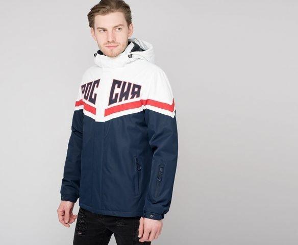 Куртка Россия бело-синяя