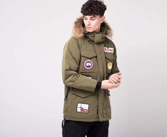 Куртка зимняя Canada Goose зеленая