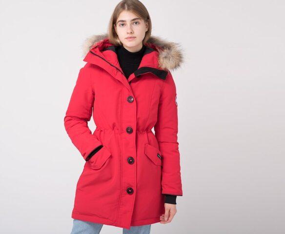 Парка зимняя Canada Goose красный