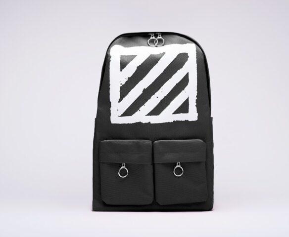 Рюкзак OFF-WHITE черно-белый