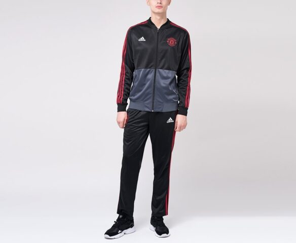 Спортивный костюм Adidas FC Manchester United черный