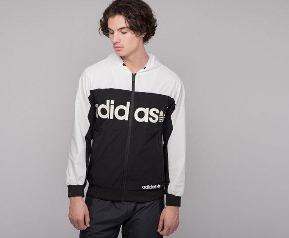 Ветровка Adidas черно-белая
