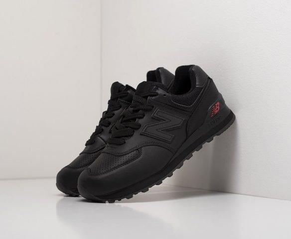 New Balance 574 leather black wmn