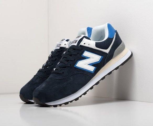 New Balance 574 синие с белым
