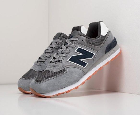 New Balance 574 серые с черным