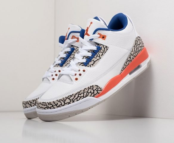 Nike Air Jordan 3 white (белые)