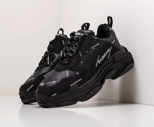 Balenciaga Triple S leather black