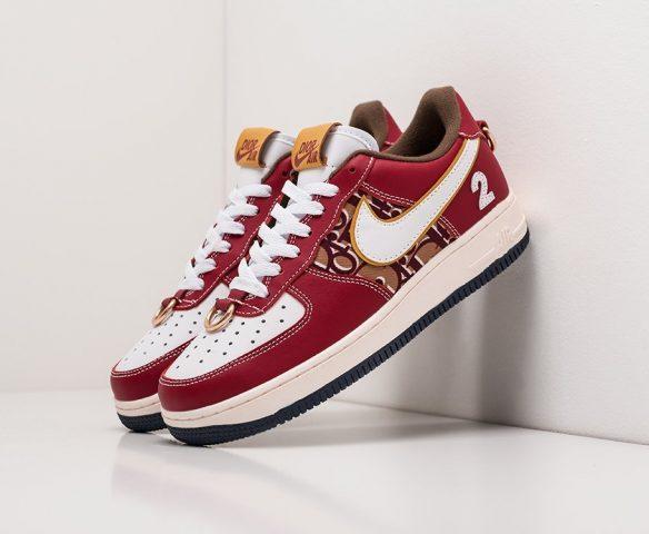 Dior x Nike Air Jordan 1 Low бордовые