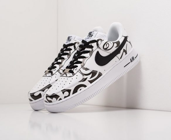 Nike Air Force 1 Low lthr wmn черно-белые