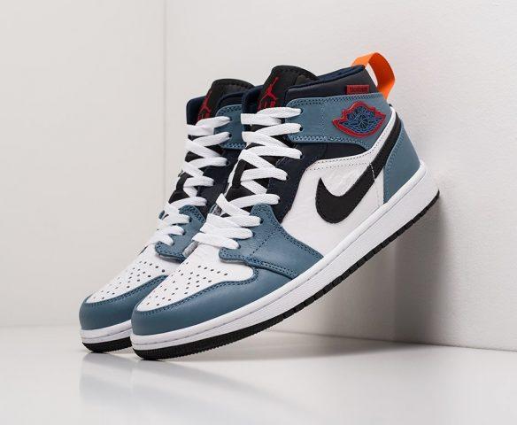 Nike Air Jordan 1 lthr white-blue