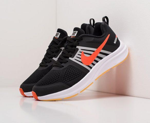Nike Air Pegasus +30 черно-оранжевые