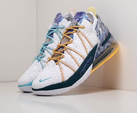 Nike Lebron XVIII mid белые