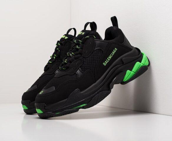 Balenciaga Triple S  черно-зеленые