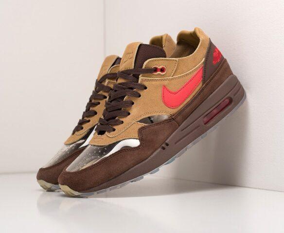 CLOT x Nike Air Max 1 коричневые