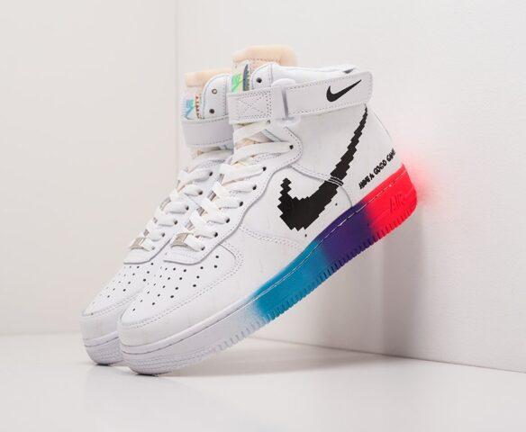 Nike Air Force 1 белые высокие