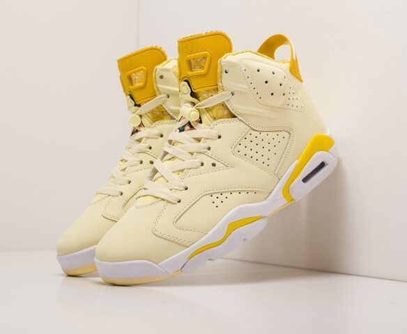 Nike Air Jordan 6 желтые