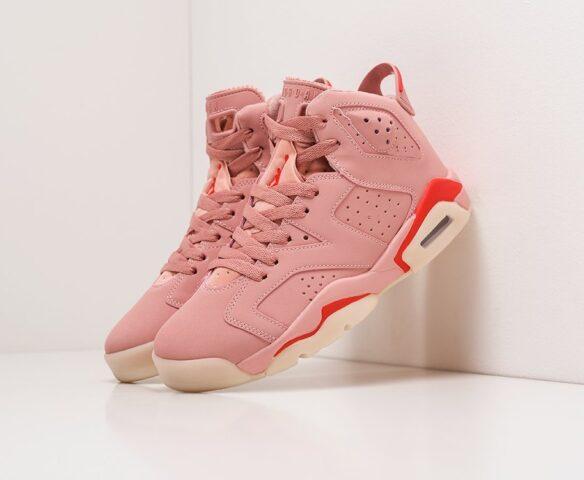 Nike Air Jordan 6 розовые